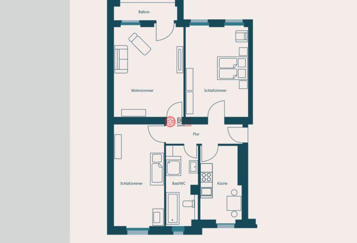 德国柏林柏林的房产,Sedanstrasse,编号44191890