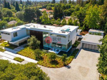 美国房产房价_加州房产房价_阿瑟顿房产房价_居外网在售美国阿瑟顿5卧7卫特别设计建筑的房产总占地4065平方米USD 21,500,000