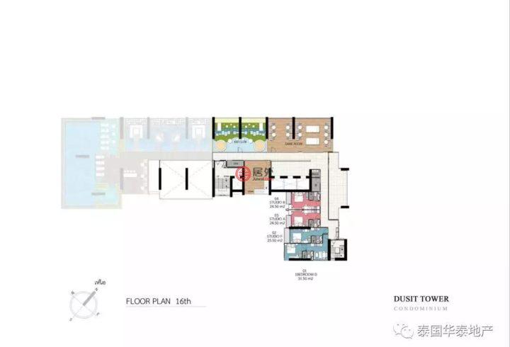 泰国春武里府芭堤雅的房产,编号51708339