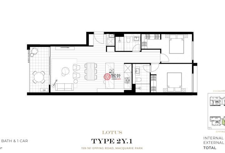 澳大利亚新南威尔士州Macquarie Park的公寓,编号59637904
