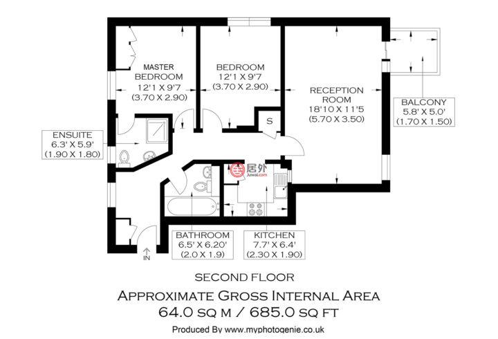 英国英格兰伦敦的公寓,Narrow Street,编号59872138