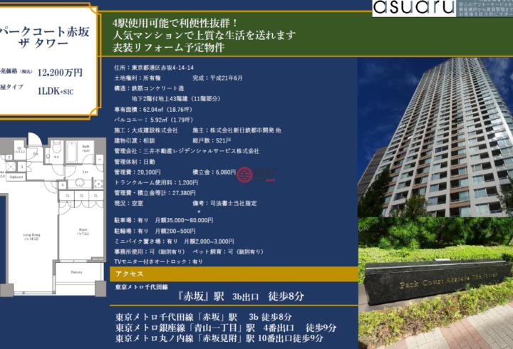 日本JapanTokyo的房产,東京都港区赤坂4-14-14,编号55730997