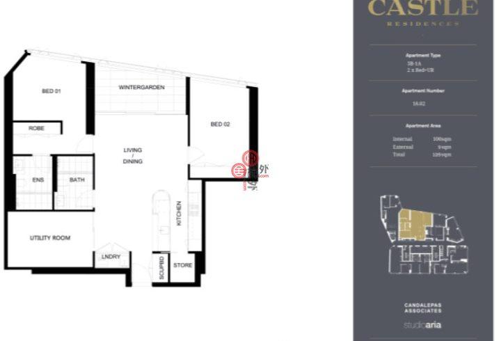澳大利亚新南威尔士州悉尼的新建房产,203 Castlereagh Street,编号51902234