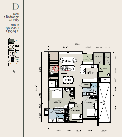 马来西亚Kuala Lumpur吉隆坡的房产,满家乐日本服务式公寓,编号53942514
