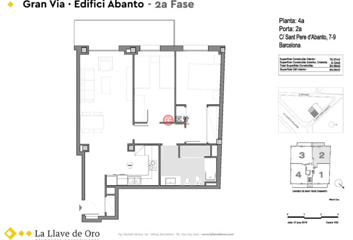 西班牙BarcelonaBadalona的新建房产,编号46639013