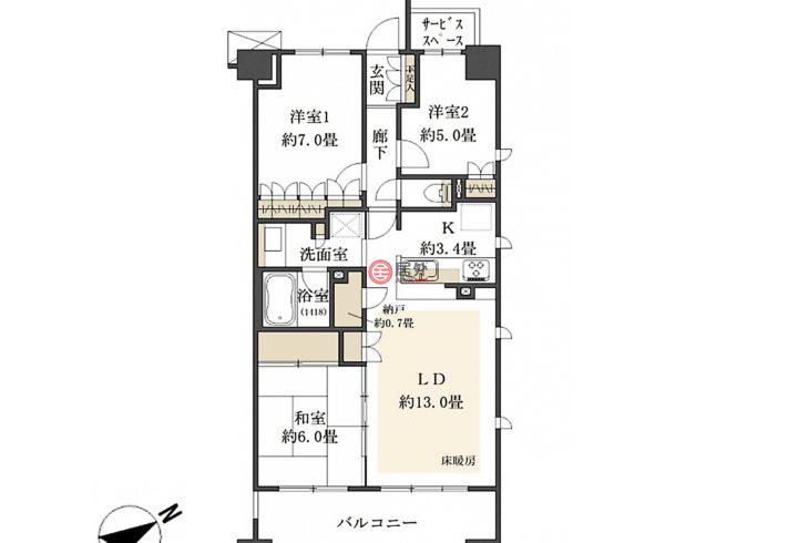 日本Kanagawa PrefectureYokohama的房产,编号56727446
