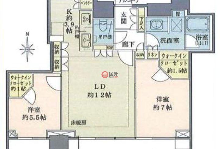 日本TokyoTokyo的房产,编号53228469