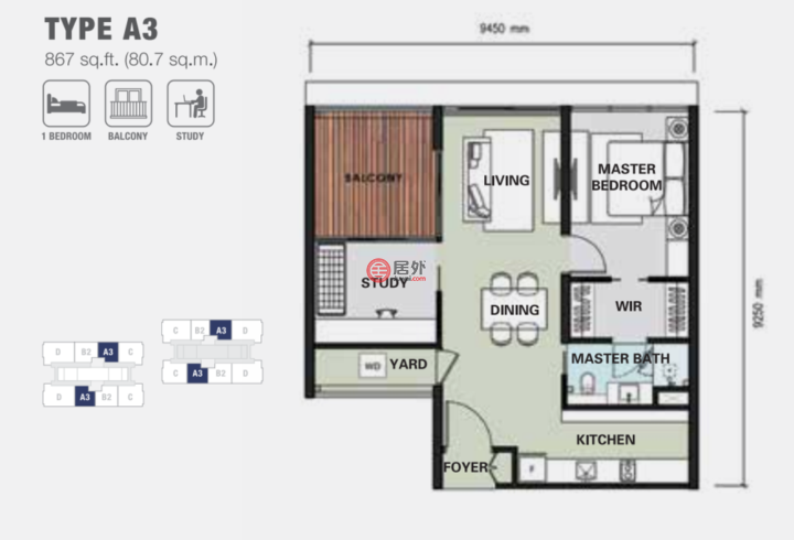 马来西亚Federal Territory of Kuala LumpurKuala Lumpur的房产,KLCC雅乐华庭,编号48736386