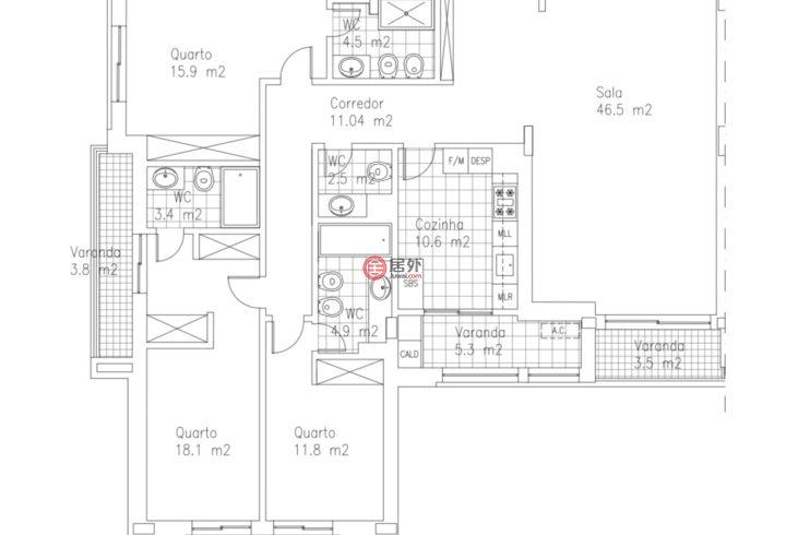 葡萄牙LisboaCarnaxide的公寓,Rua Professor Noronha Feio,编号59155753